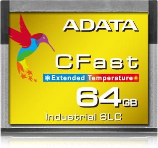 Промышленный накопитель Adata CFast ICFS332 доступен в объёме 64 ГБ