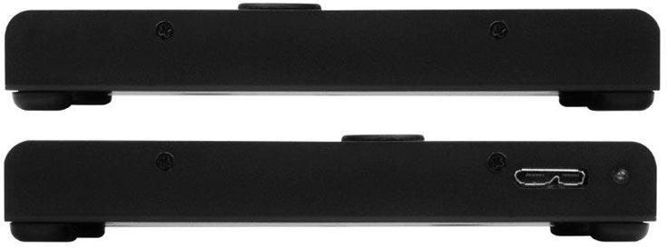 В корпусе PTS01 помещается жесткий диск или твердотельный накопитель толщиной 9 мм