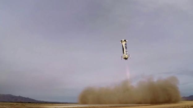 Компании Blue Origin Джеффа Безоса удалось посадить первую ступень ракеты New Shepard без повреждений - 1