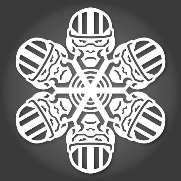 Снежинки в стилистике StarWars своими руками (upd. 2015) - 10