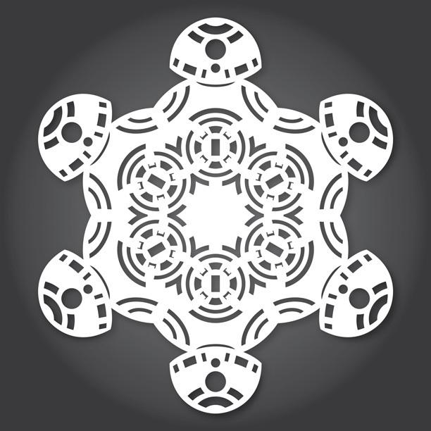Снежинки в стилистике StarWars своими руками (upd. 2015) - 2