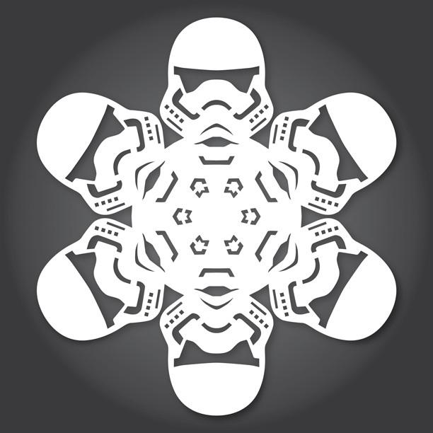 Снежинки в стилистике StarWars своими руками (upd. 2015) - 4