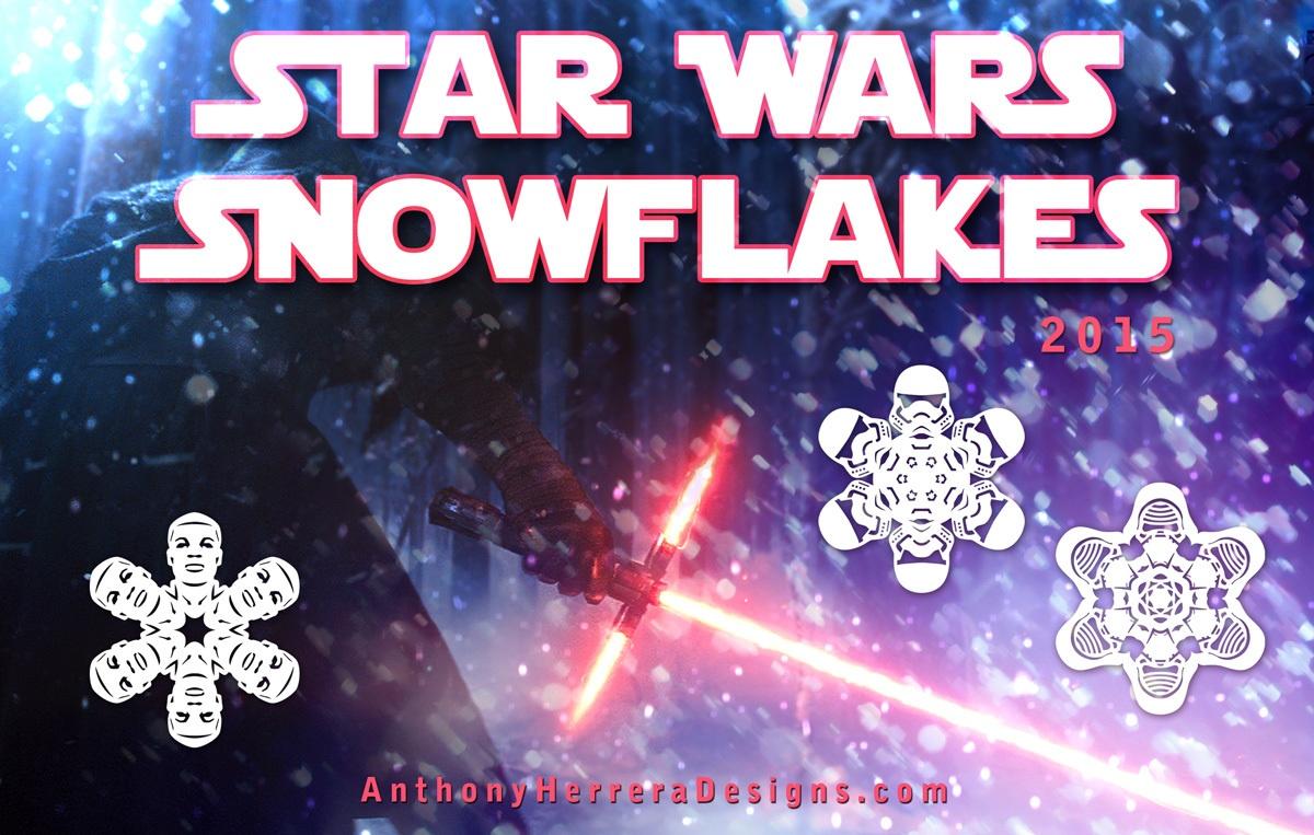 Снежинки в стилистике StarWars своими руками (upd. 2015) - 1