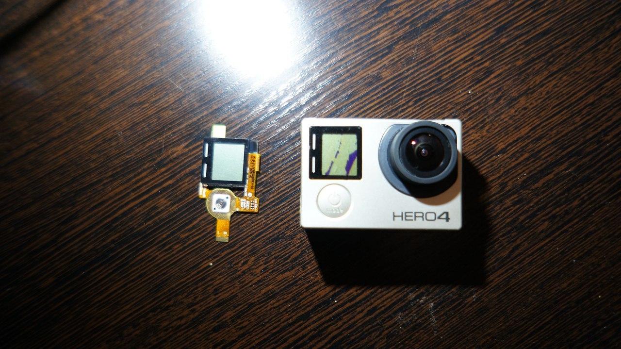 Замена переднего LCD дисплея GoPro 4 black - 2