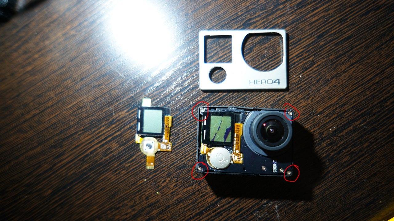Замена переднего LCD дисплея GoPro 4 black - 4