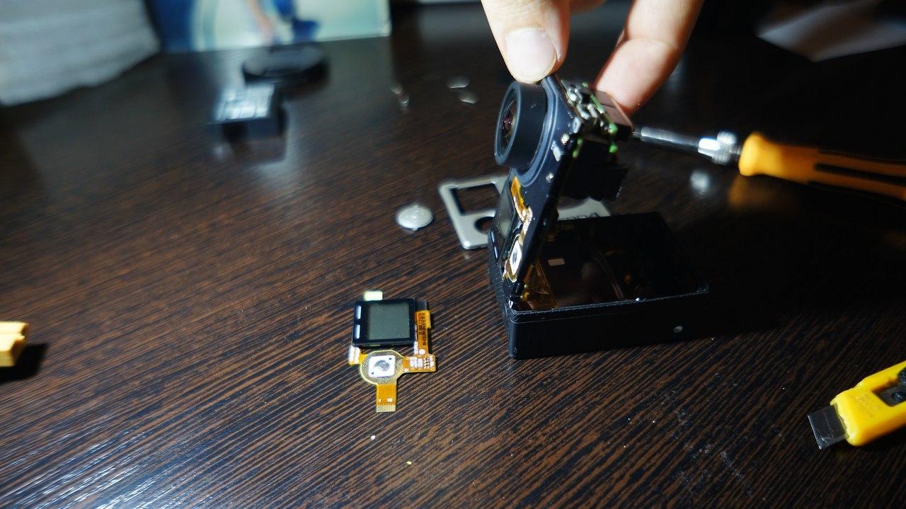 Замена переднего LCD дисплея GoPro 4 black - 5