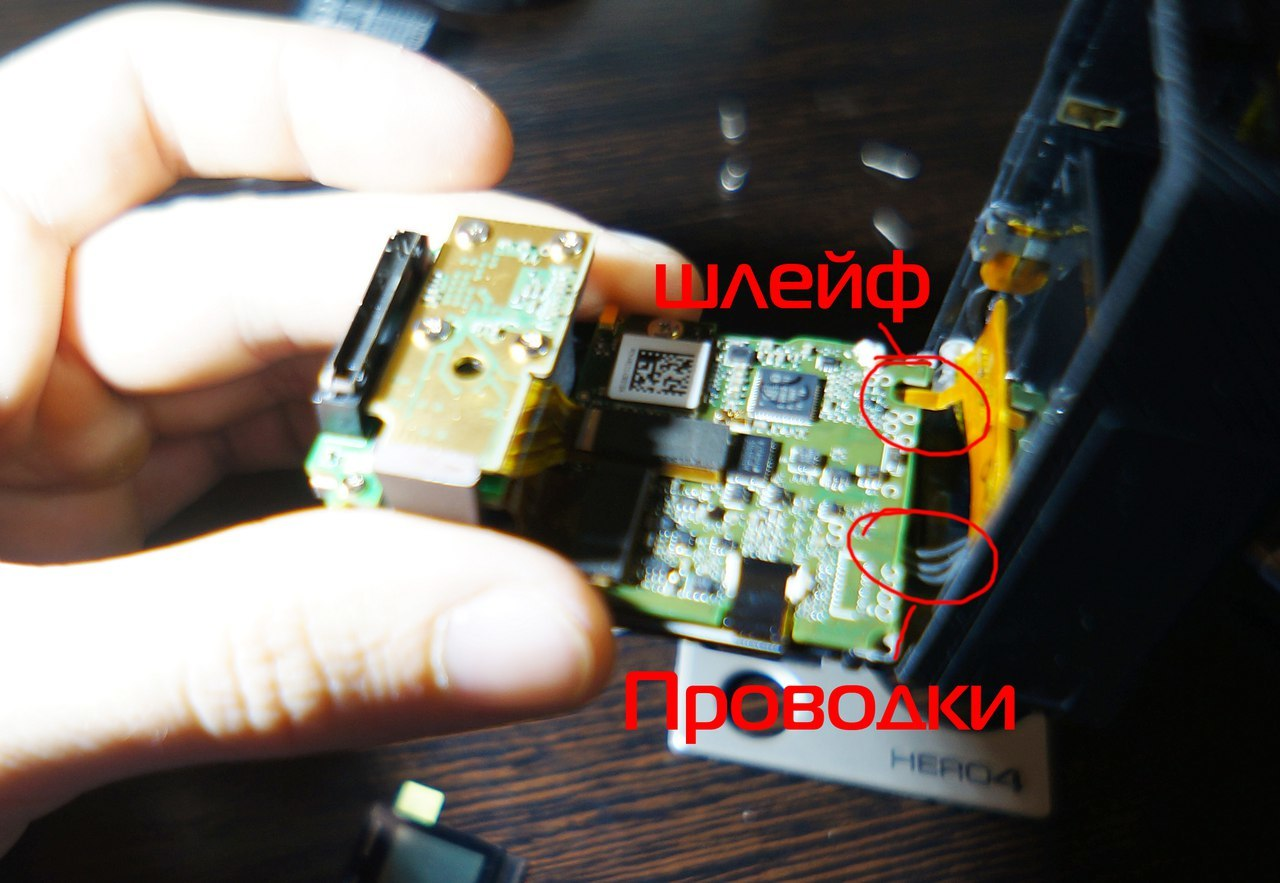 Замена переднего LCD дисплея GoPro 4 black - 6