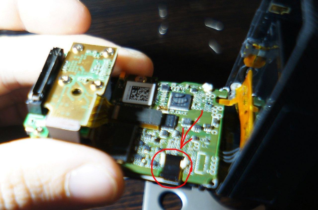 Замена переднего LCD дисплея GoPro 4 black - 7