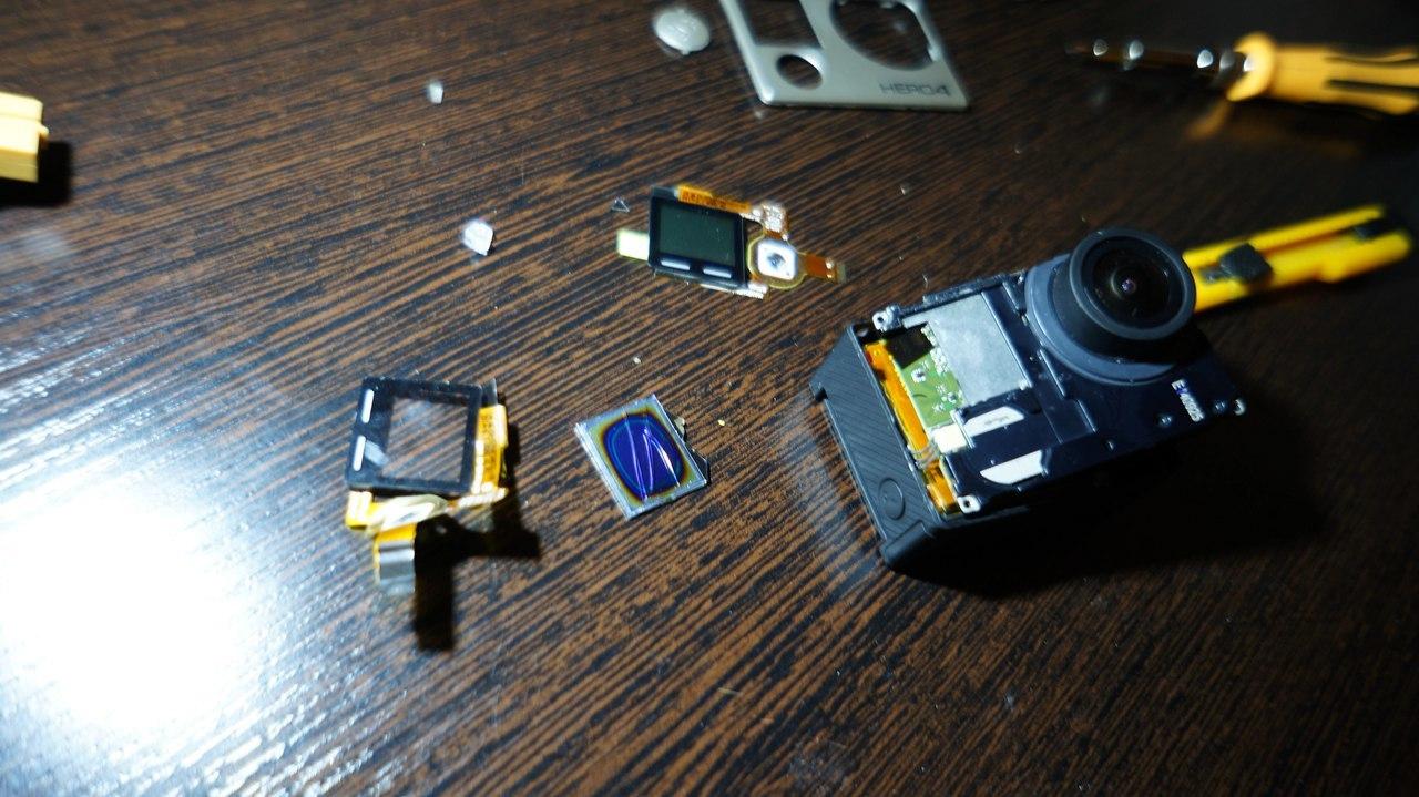 Замена переднего LCD дисплея GoPro 4 black - 8