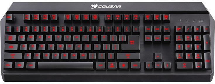 Клавиатуру Cougar 450K производитель классифицирует как «гибридную механическую»