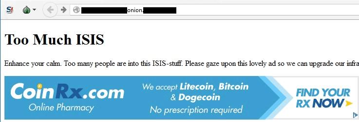 Хакеры взломали сайт ИГИЛ, разместили там рекламу лекарств и надпись «Успокойтесь» - 1