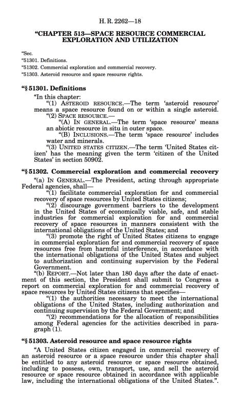 Закон о добыче ресурсов в космосе подписан президентом США - 2