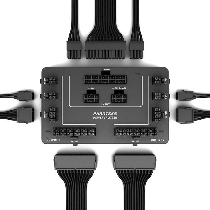 Для подключения разветвителя подходят обычные удлинительные кабели для блоков питания