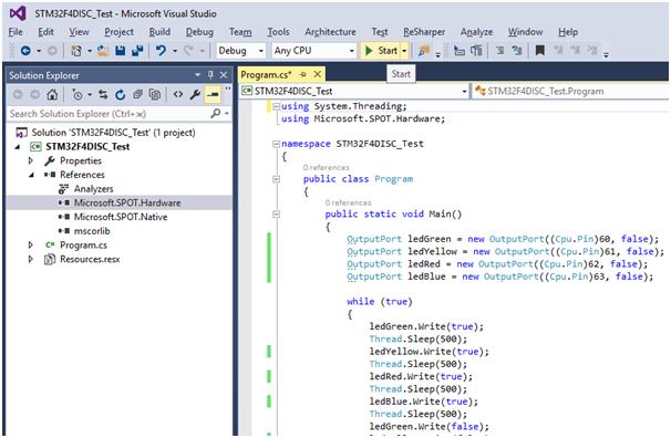 Запуск .Net Micro Framework 4.4 на STM32F4Discovery - 32