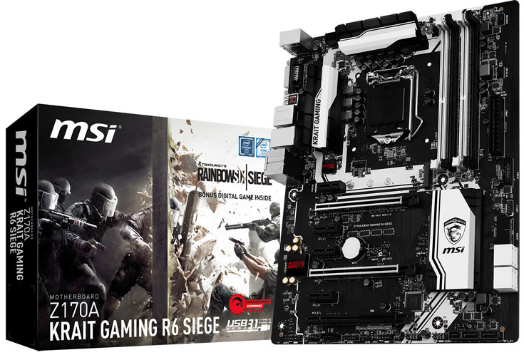 В описании платы MSI Z170A KRAIT Gaming R6 Siege производитель выделяет звуковую подсистему Audio Boost 3