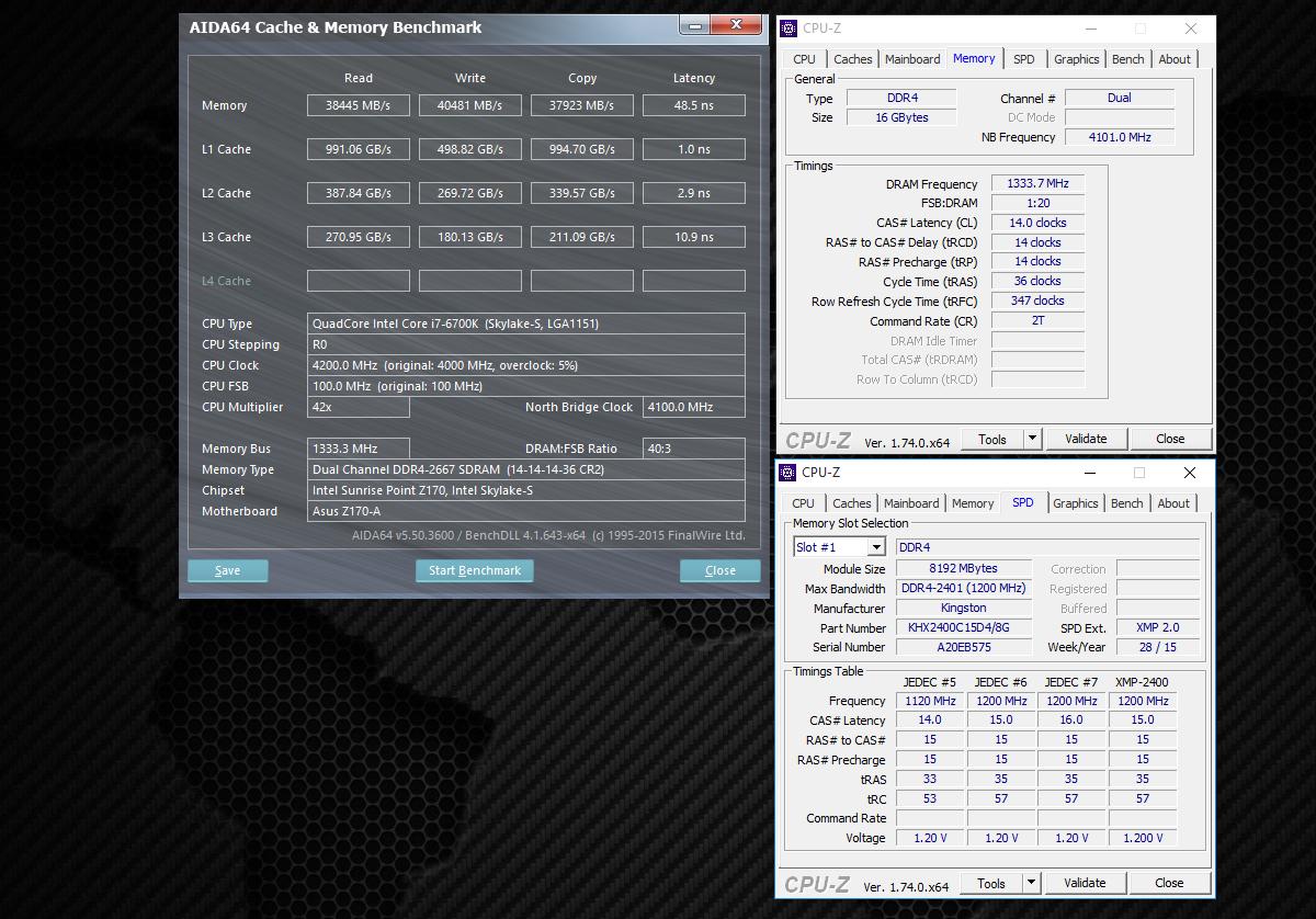 Обзор комплекта оперативной памяти HyperX Fury DDR4-2400 16 Gb (2*8 Gb) - 6