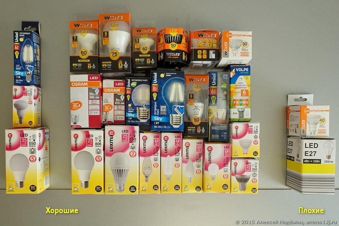 Светодиодные лампы из магазина Леруа Мерлен - 1