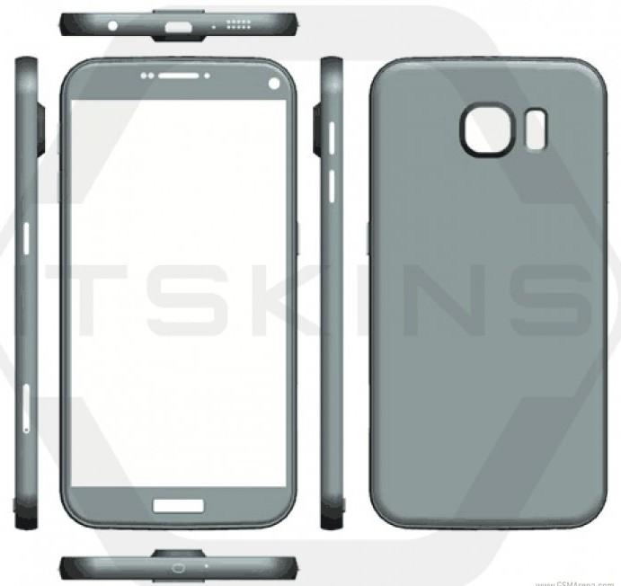 В Сеть утекли размеры и компьютерные изображения смартфонов Samsung Galaxy S7 и Galaxy S7 Plus