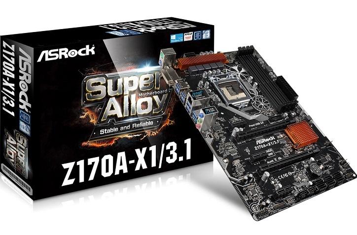 Плата ASRock Z170A-X1/3.1 станет недорогим предложением среди конкурентов на базе Intel Z170