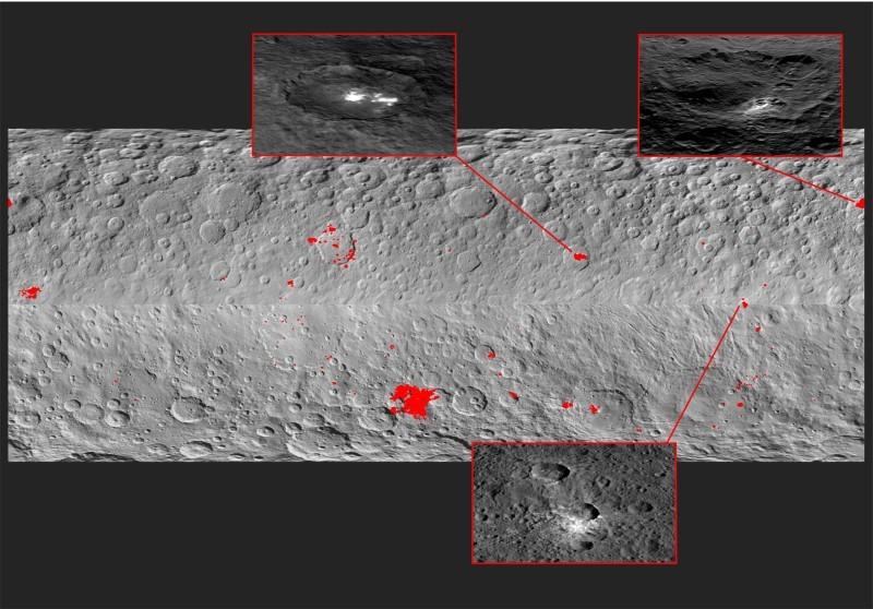 Астрономы объяснили странные белые пятна на Церере - 3