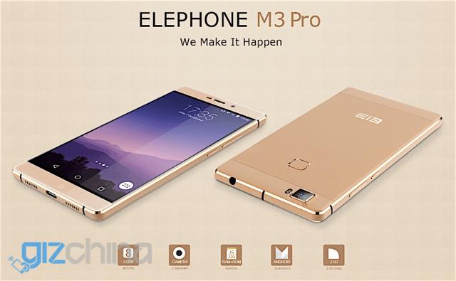 Смартфон Elephone M3 Pro получит порт USB C