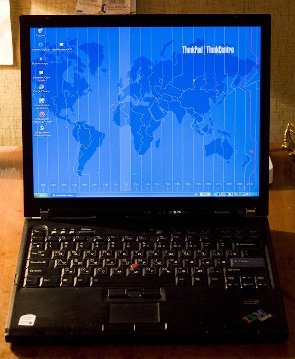 Апгрейд Wi-Fi и процессора на ноутбуке ThinkPad T60 - 12