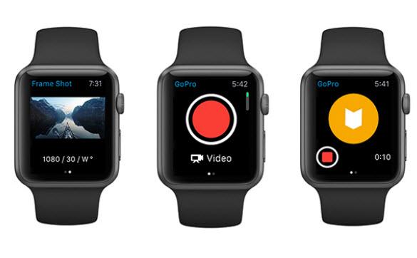 Камерами GoPro теперь можно управлять при помощи часов Apple Watch