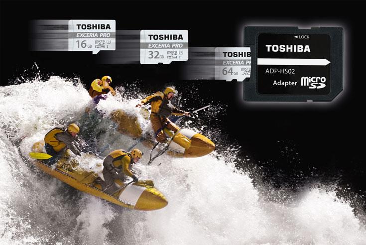 Карты памяти microSD Exceria Pro M401 защищены от воздействия воды, ударов, рентгеновских лучей, высоких и низких температур