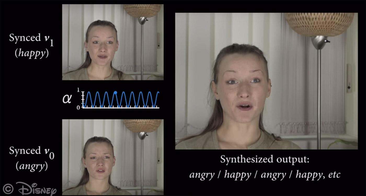 Эмоции актеру не нужны? В Disney научились корректировать выражение лица человека на видео - 1