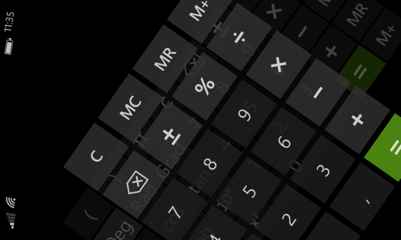 Анимированное изменение ориентации экрана в приложении Windows Phone - 3