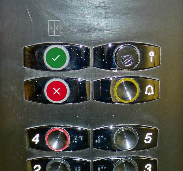 Панель кнопок в лифте: двери, не спешите закрываться - 6