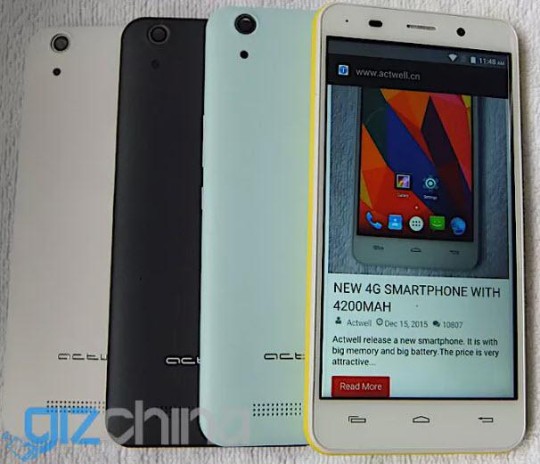 Смартфон Actwell D3 с 3 ГБ оперативной и 32 ГБ флэш-памяти, а также АКБ емкостью 4200 мА·ч оценен в $99