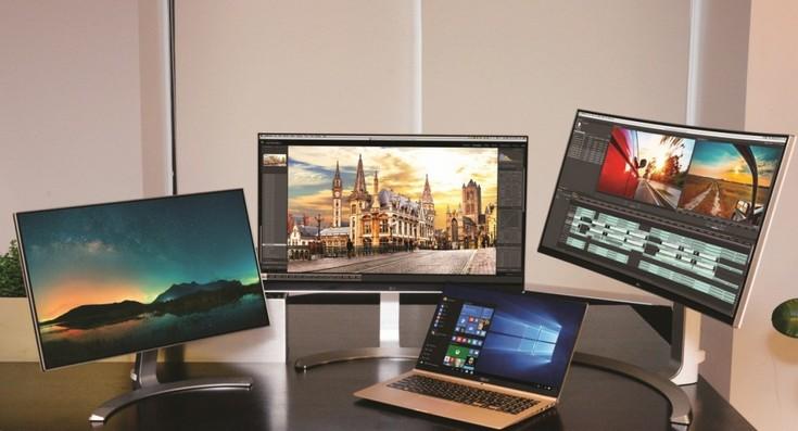 LG готовит множество любопытных мониторов и очень лёгкий ноутбук