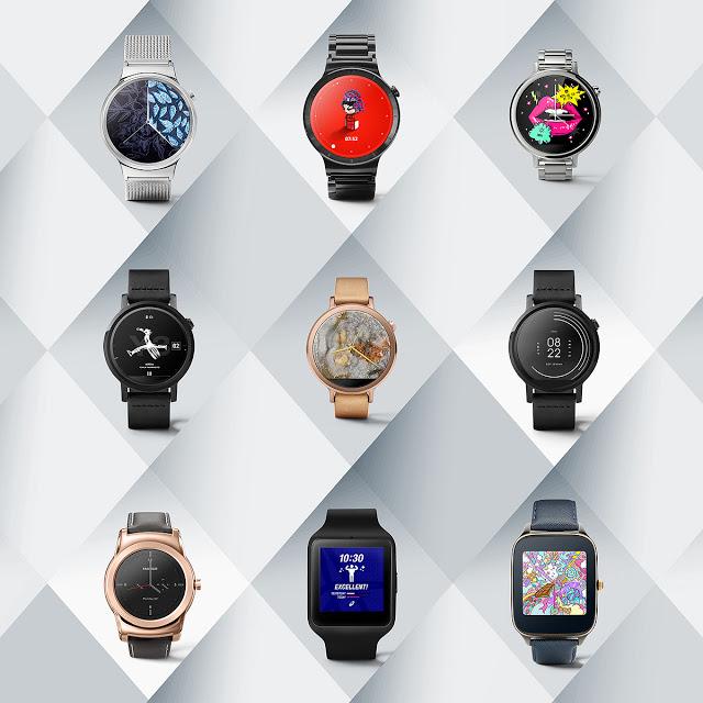 Часы на базе Android Wear получили девять дизайнерских тем от модных брендов