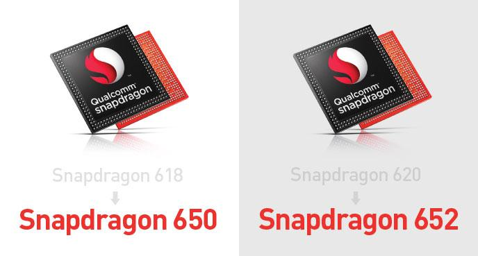 Новые SoC Snapdragon 652 и 650 представляют собой переименованные Snapdragon 620 и 618