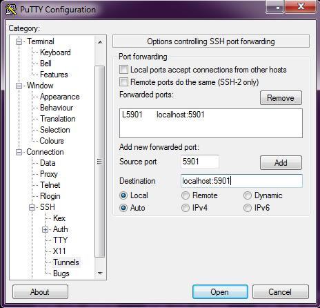 Установка VNC сервера, и настройка его работы поверх SSH - 3