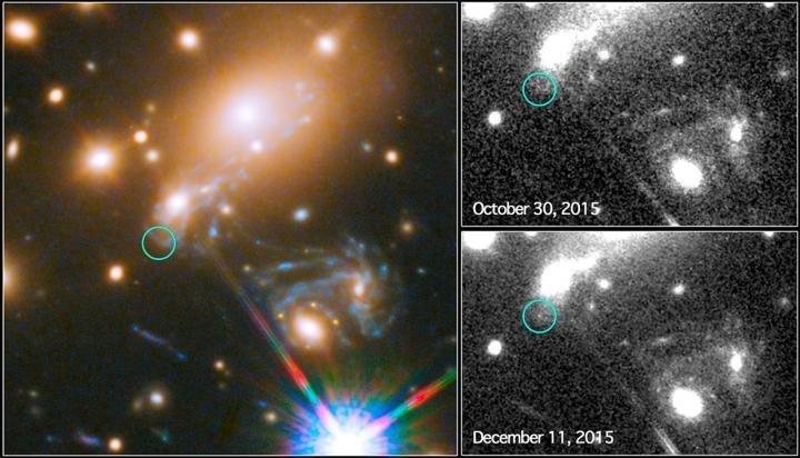 Дежа вю. «Хаббл» повторно заснял взрыв сверхновой Refsdal - 1
