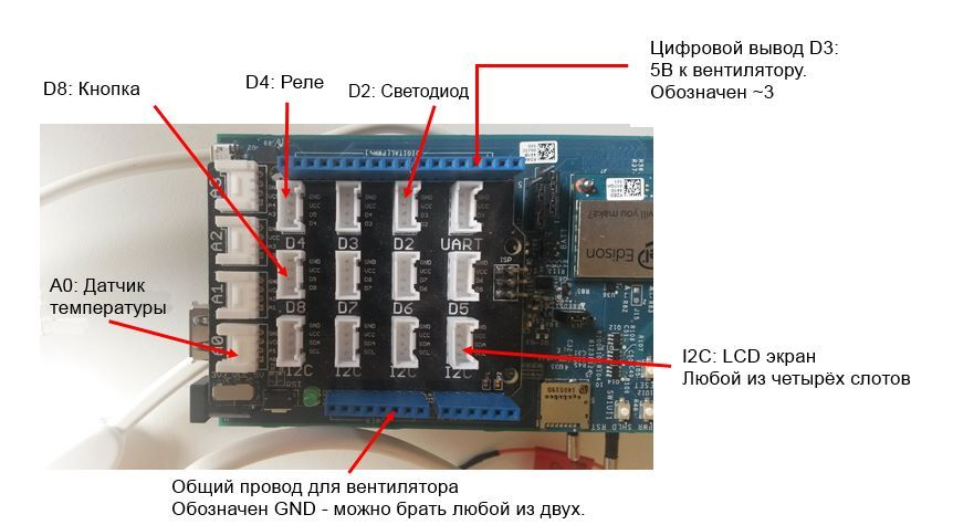 Модель системы климат-контроля на основе Intel Edison - 3