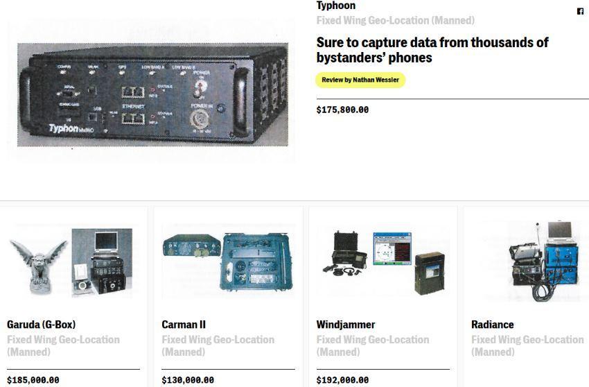 В Сети опубликован секретный каталог шпионского оборудования спецслужб США для наблюдения за сотовыми телефонами граждан - 1