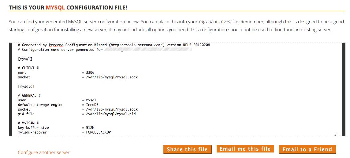 Сервис от компании Percona для создания оптимальной конфигурации MySQL серверов и анализа SQL-запросов - 3
