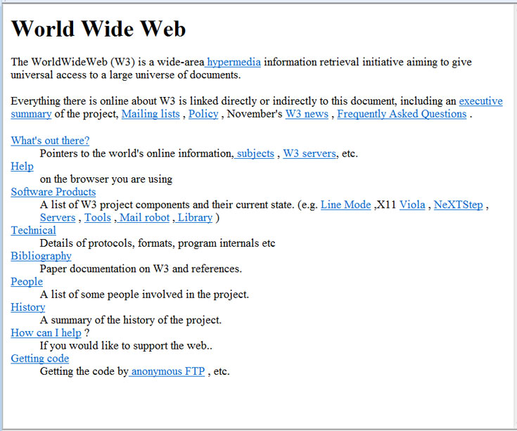 25 лет назад заработал первый в мире web-сайт