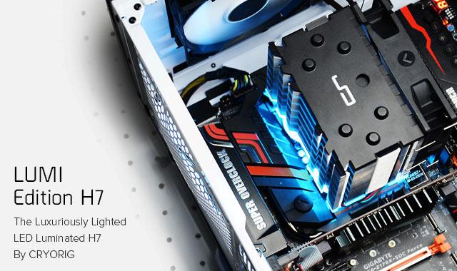 Производитель называет Cryorig H7 Lumi и Lumi RGB+ первой попыткой оснастить процессорные охладители светодиодной подсветкой