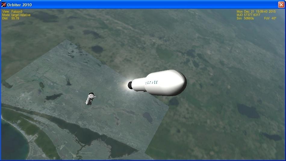 Летим и садимся вместе с Falcon 9R - 10