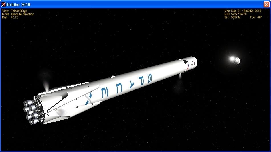 Летим и садимся вместе с Falcon 9R - 12