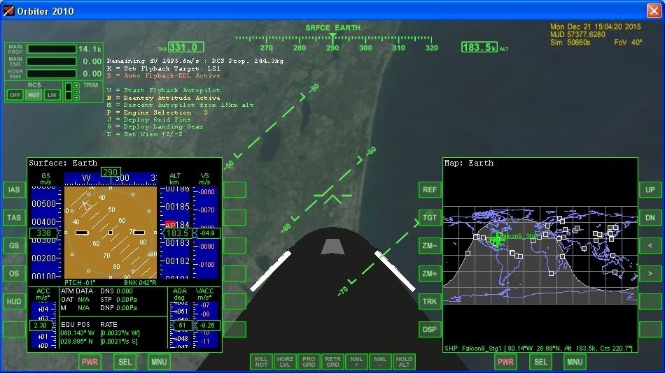 Летим и садимся вместе с Falcon 9R - 16