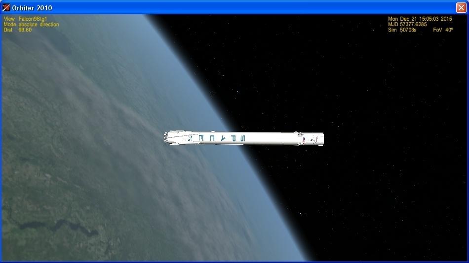 Летим и садимся вместе с Falcon 9R - 17