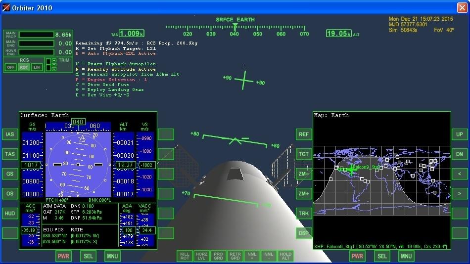 Летим и садимся вместе с Falcon 9R - 18