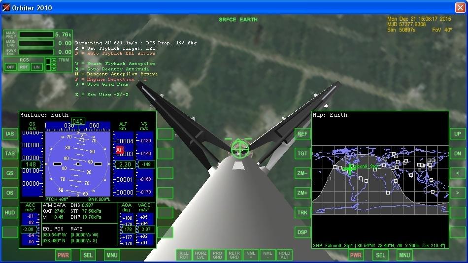 Летим и садимся вместе с Falcon 9R - 20