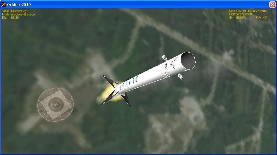 Летим и садимся вместе с Falcon 9R - 21