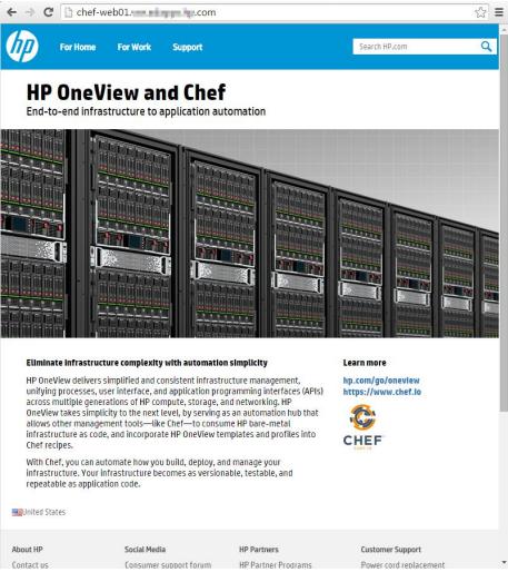 Рецепты от CHEFa: автоматизированное развёртывание сред бизнес-приложений с использованием HPE OneView - 12